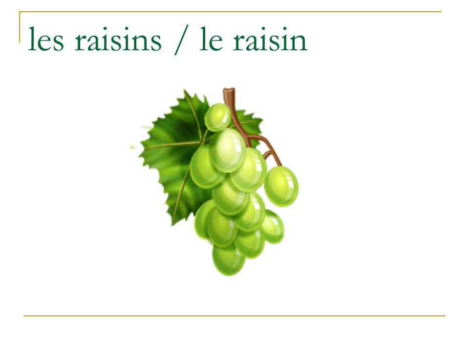 les raisins / le raisin