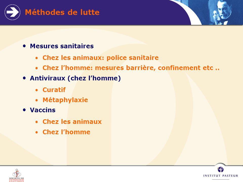 Méthodes de lutte Mesures sanitaires