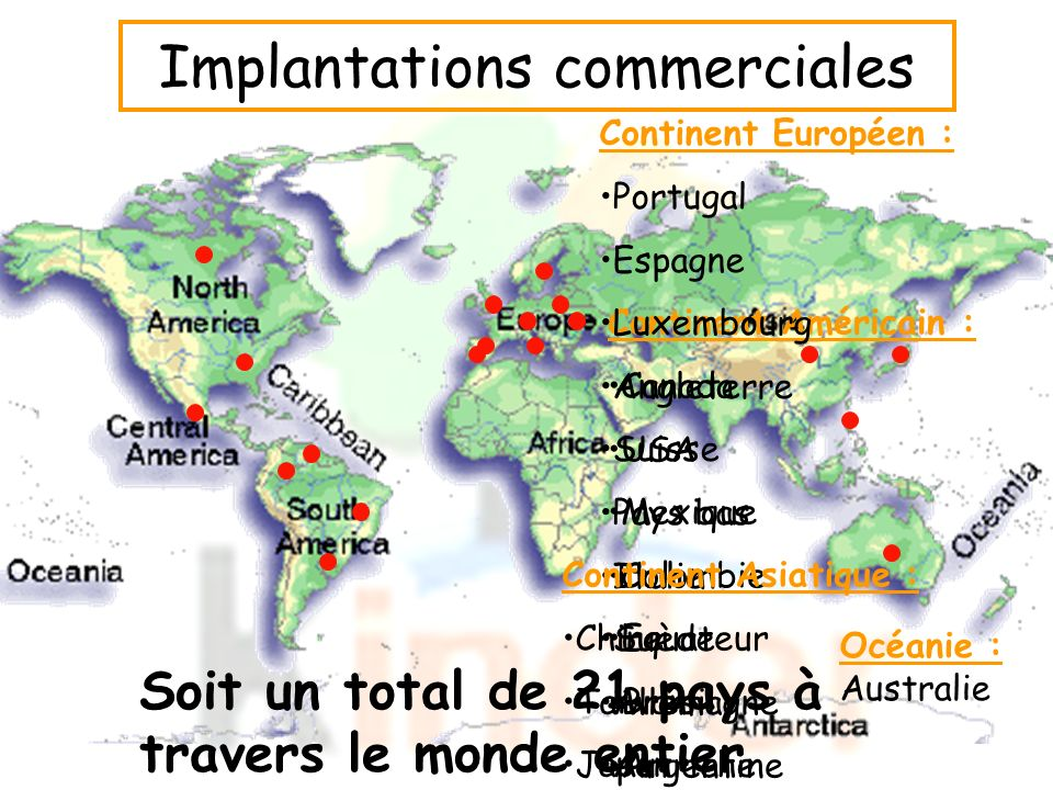 Implantations commerciales