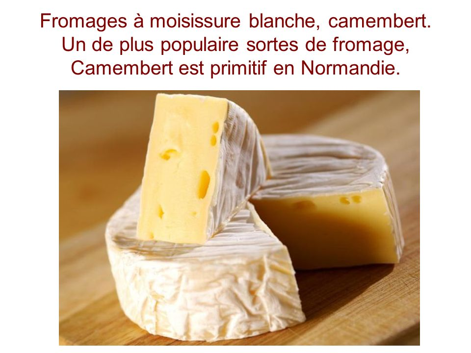 Fromages à moisissure blanche, camembert