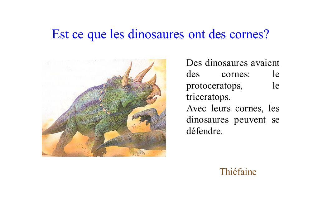 Est ce que les dinosaures ont des cornes