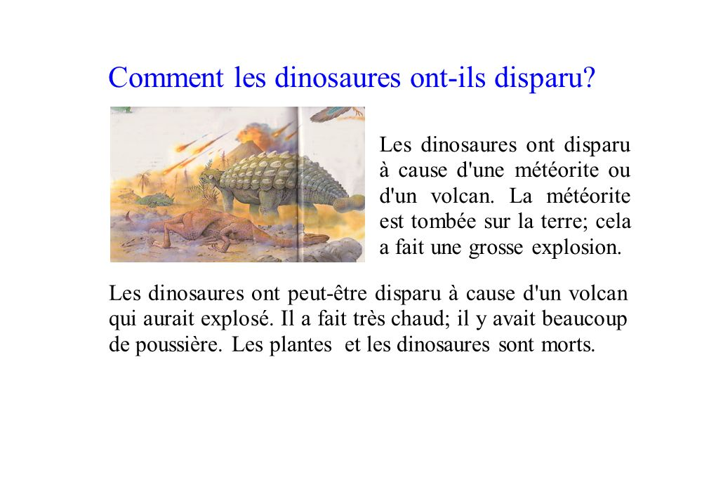 Comment les dinosaures ont-ils disparu