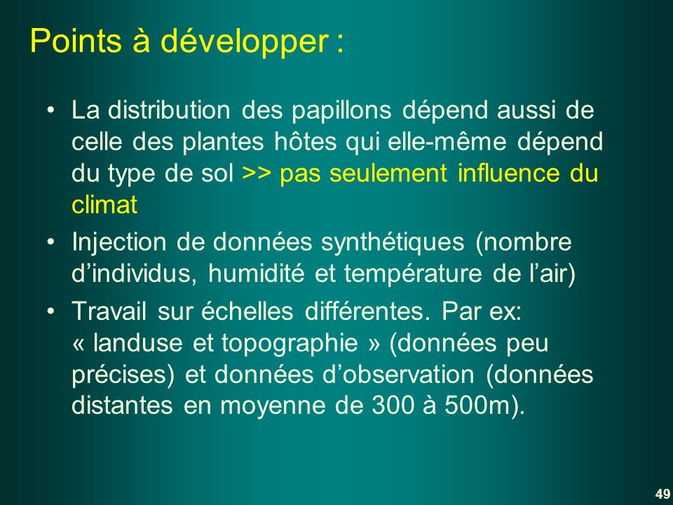 Points à développer :