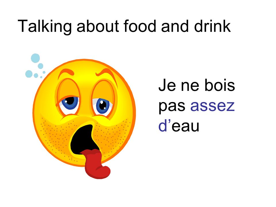 Talking about food and drink