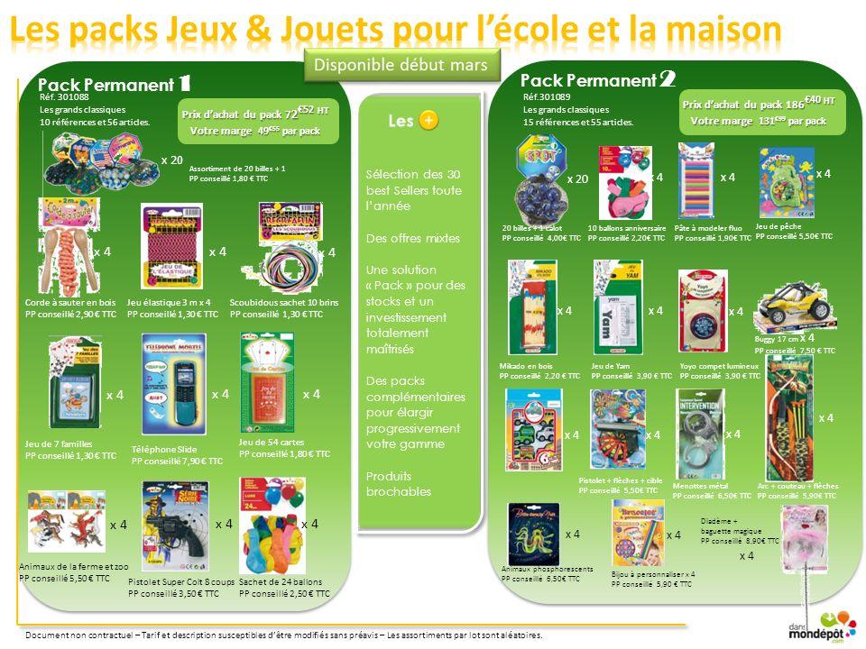 Prix d'achat du pack 186€40 HT Prix d'achat du pack 72€52 HT