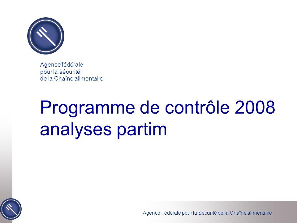 Programme de contrôle 2008 analyses partim