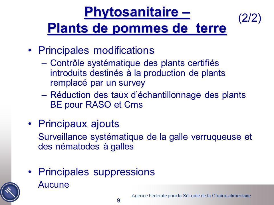 Phytosanitaire – Plants de pommes de terre