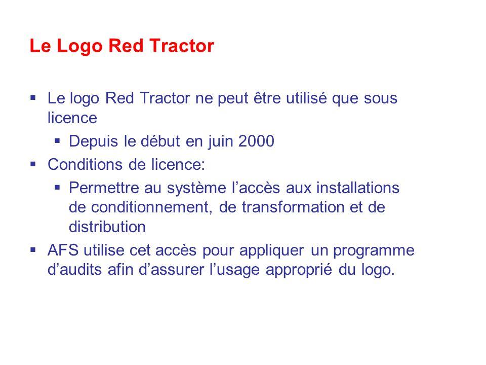 Le Logo Red Tractor Le logo Red Tractor ne peut être utilisé que sous licence. Depuis le début en juin 2000.