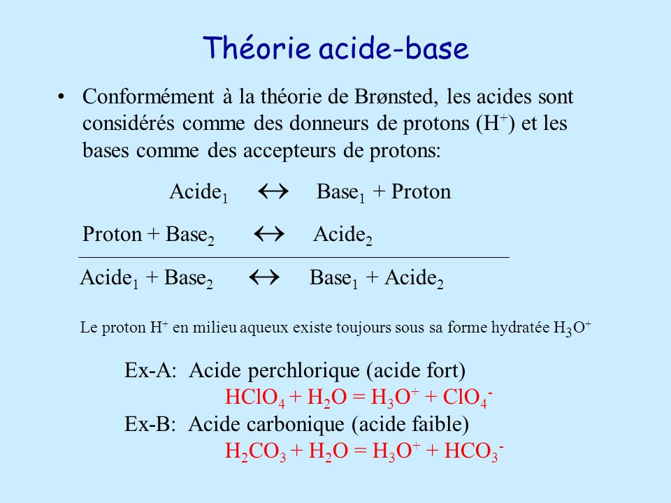 Théorie acide-base