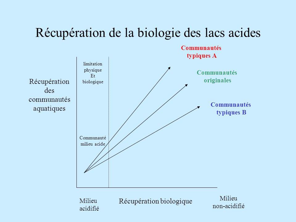 Récupération de la biologie des lacs acides