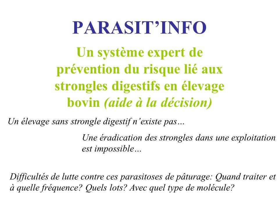 PARASIT'INFO Un système expert de prévention du risque lié aux strongles digestifs en élevage bovin (aide à la décision)