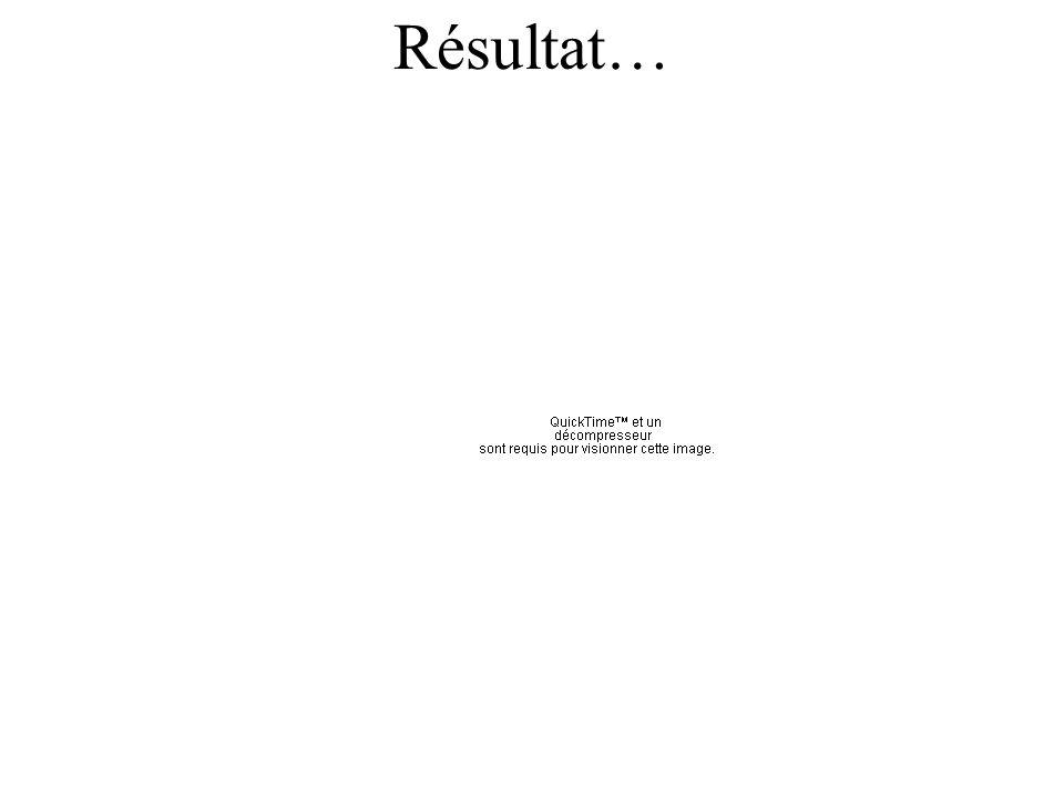 Résultat…