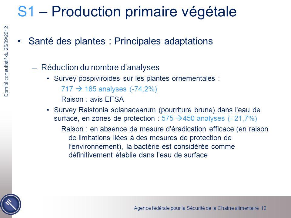 S1 – Production primaire végétale