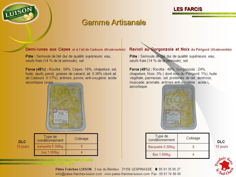 Gamme Artisanale LES FARCIS