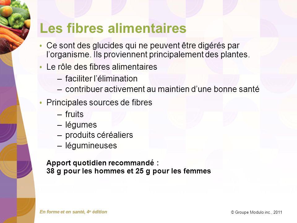 Les fibres alimentaires