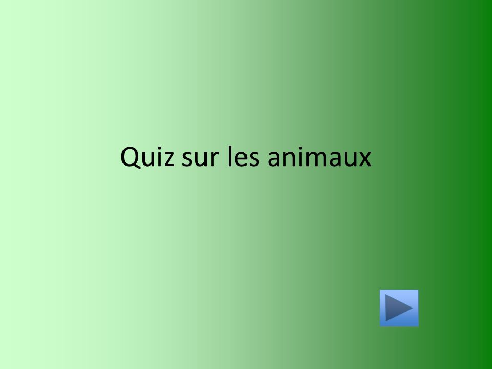 quiz sur les animaux ppt video online t l charger. Black Bedroom Furniture Sets. Home Design Ideas