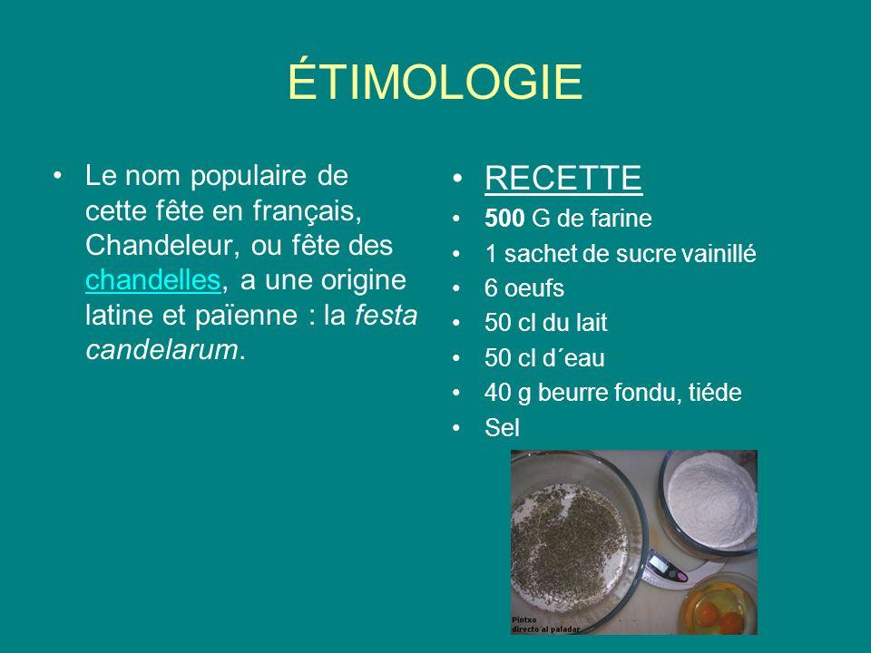 ÉTIMOLOGIE Le nom populaire de cette fête en français, Chandeleur, ou fête des chandelles, a une origine latine et païenne : la festa candelarum.