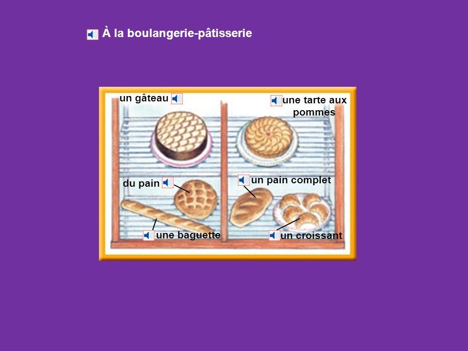 À la boulangerie-pâtisserie