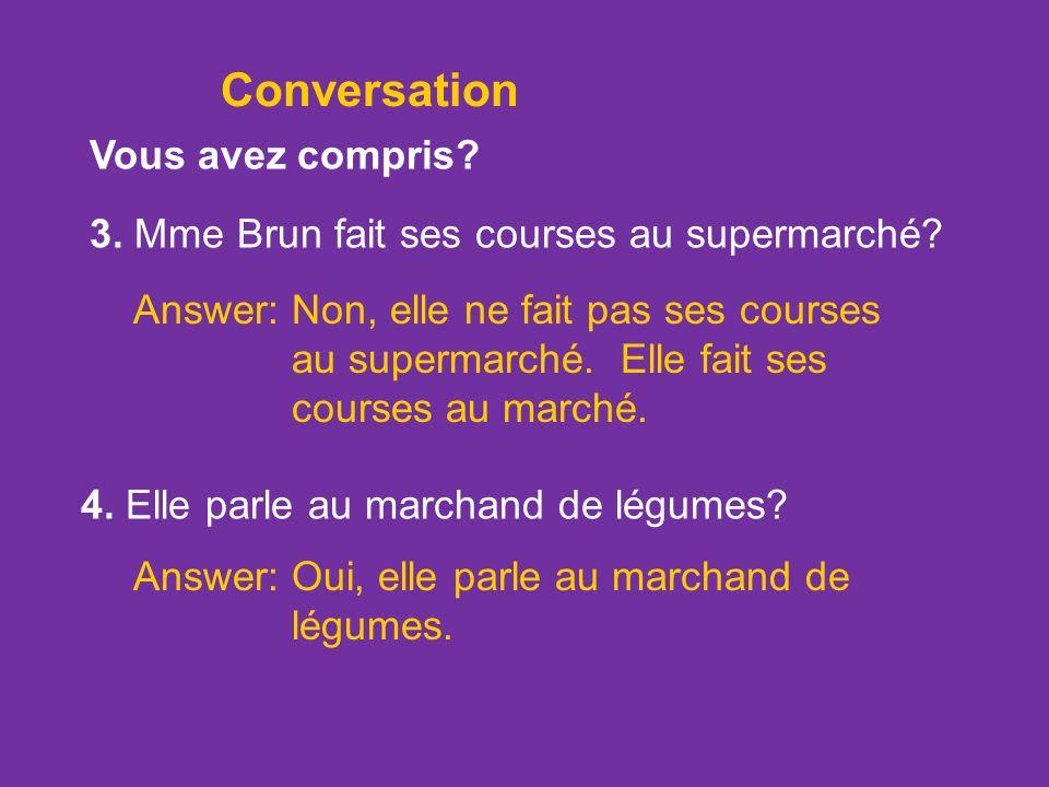 Conversation Vous avez compris