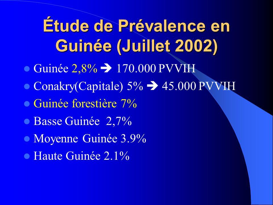 Étude de Prévalence en Guinée (Juillet 2002)