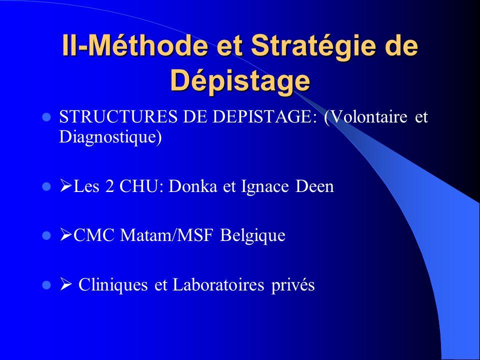 II-Méthode et Stratégie de Dépistage