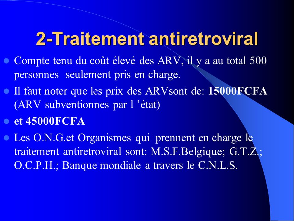 2-Traitement antiretroviral