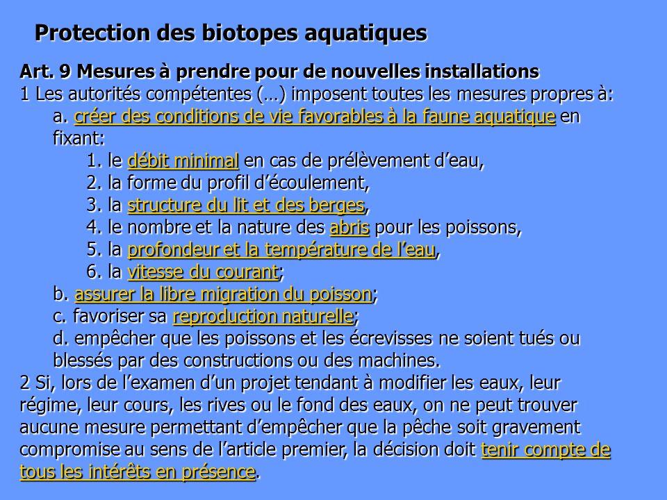 Protection des biotopes aquatiques
