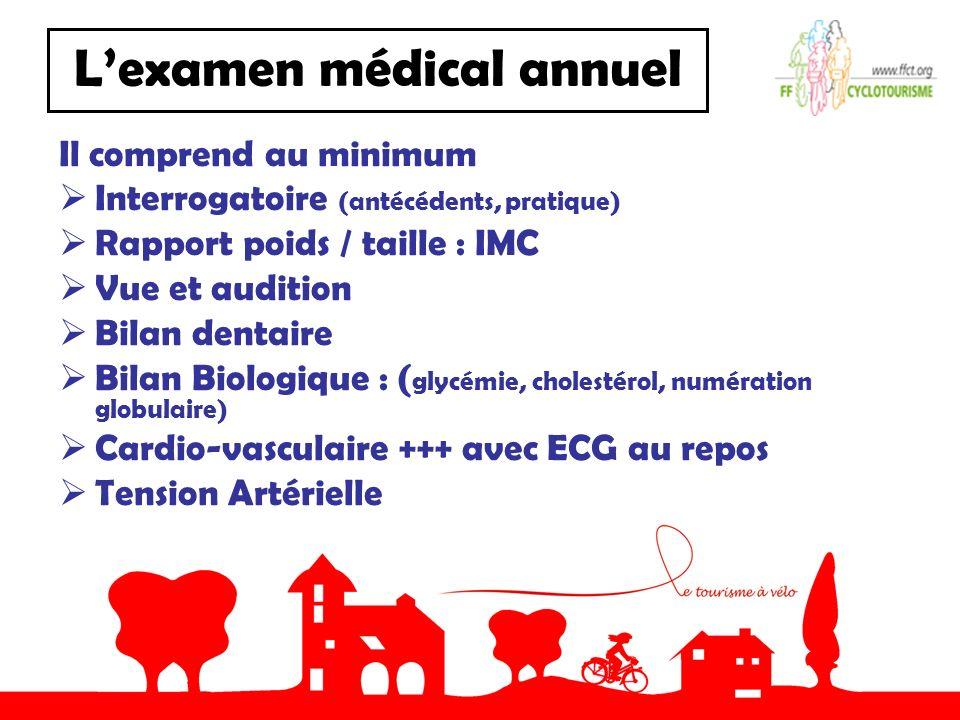 L'examen médical annuel