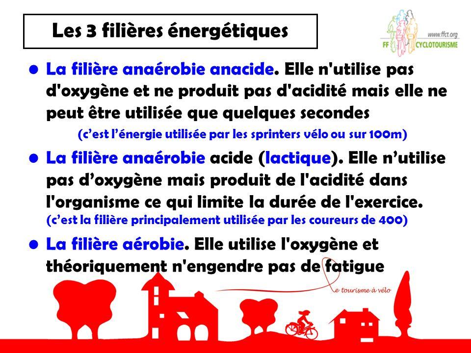 Les 3 filières énergétiques