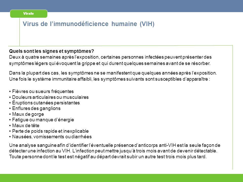 Virus de l'immunodéficience humaine (VIH)