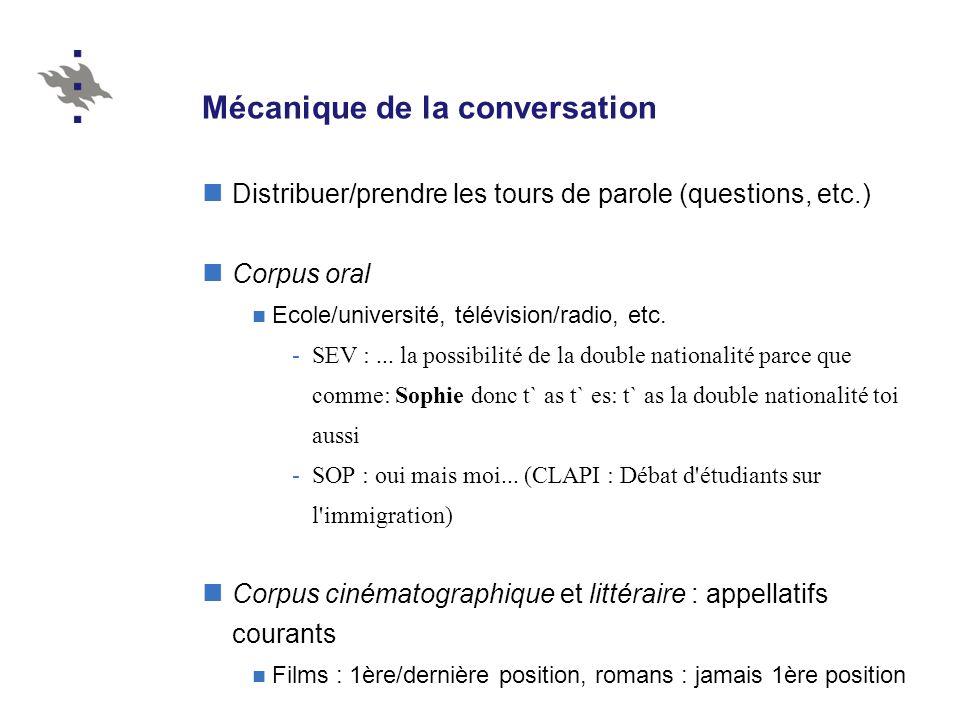 Mécanique de la conversation
