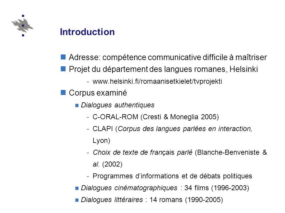 Introduction Adresse: compétence communicative difficile à maîtriser