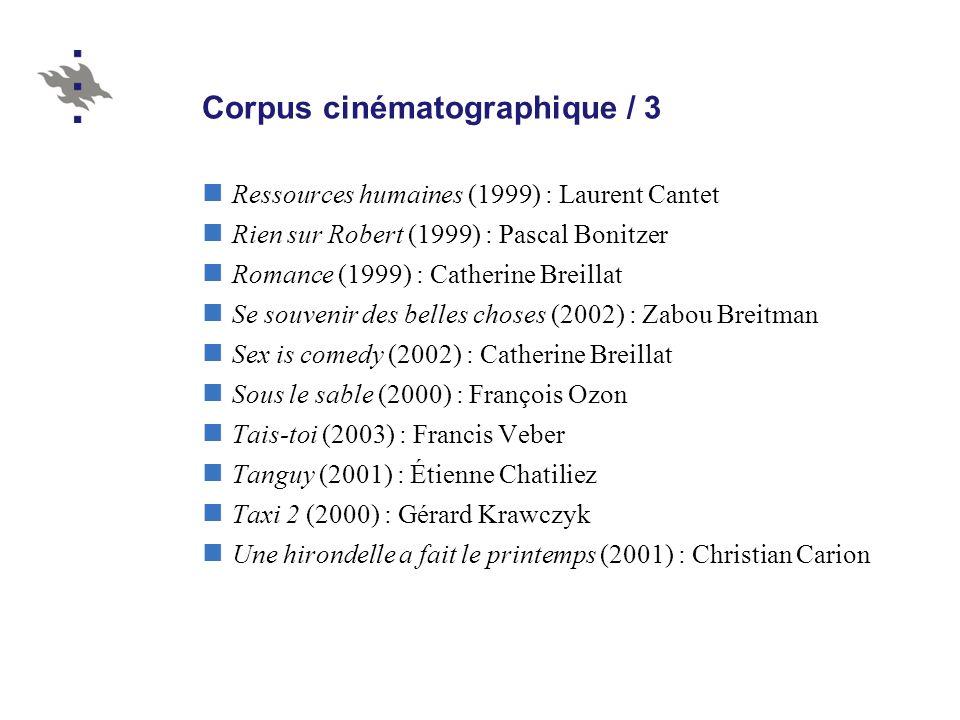 Corpus cinématographique / 3