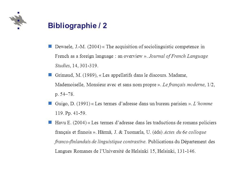 Bibliographie / 2