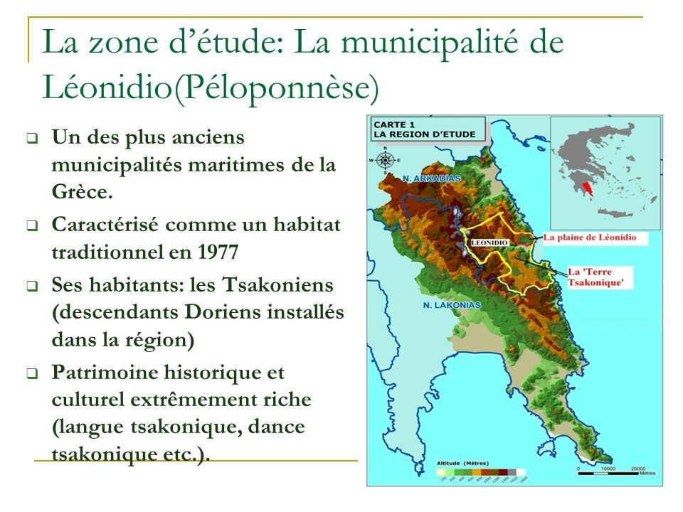 La zone d'étude: La municipalité de Léonidio(Péloponnèse)
