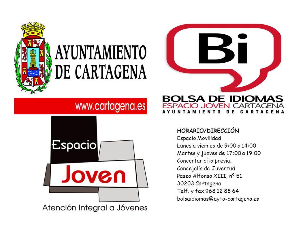 HORARIO/DIRECCIÓN Espacio Movilidad Lunes a viernes de 9:00 a 14:00 Martes y jueves de 17:00 a 19:00 Concertar cita previa.