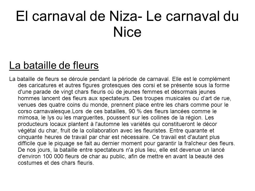 El carnaval de Niza- Le carnaval du Nice