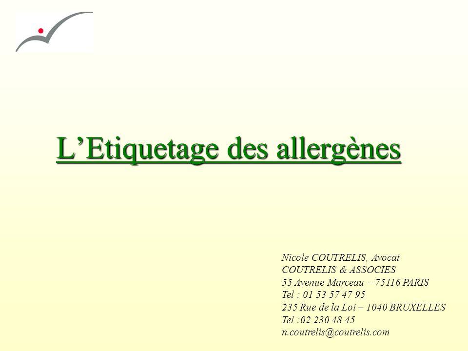 L'Etiquetage des allergènes