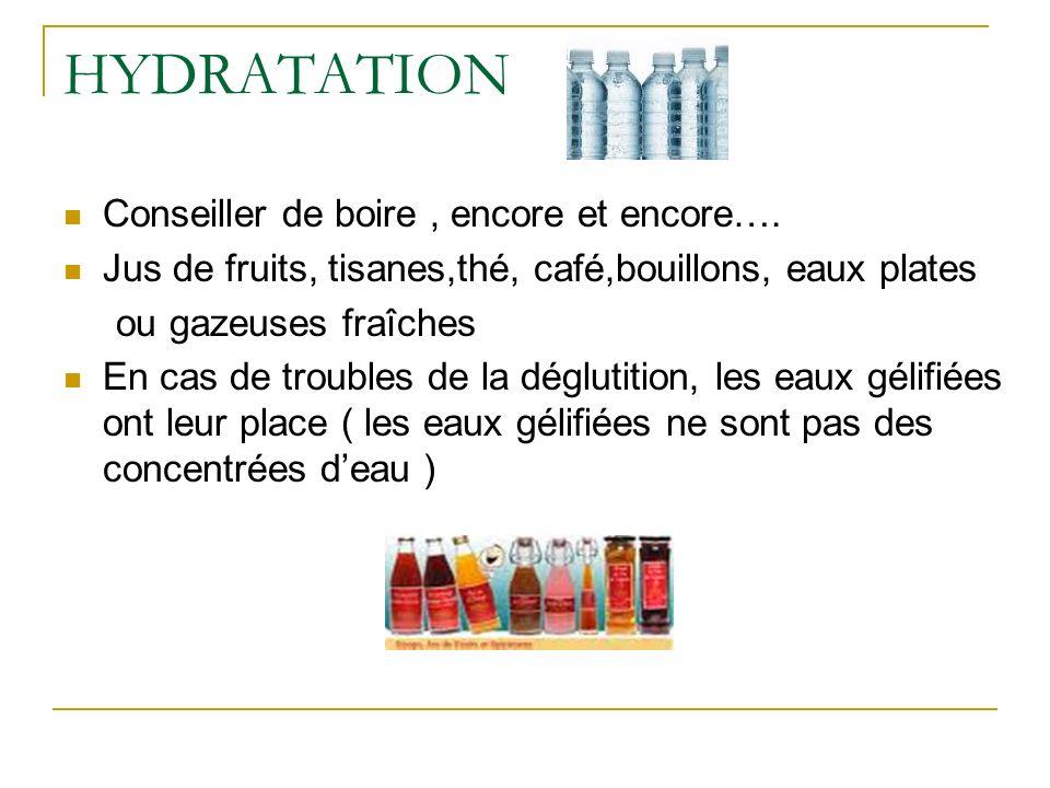 HYDRATATION Conseiller de boire , encore et encore….