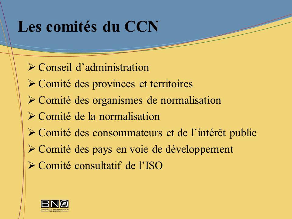 Les comités du CCN Conseil d'administration
