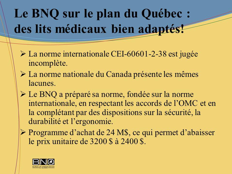 Le BNQ sur le plan du Québec : des lits médicaux bien adaptés!