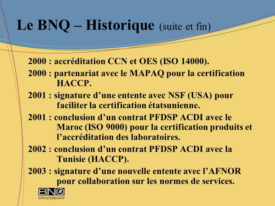 Le BNQ – Historique (suite et fin)