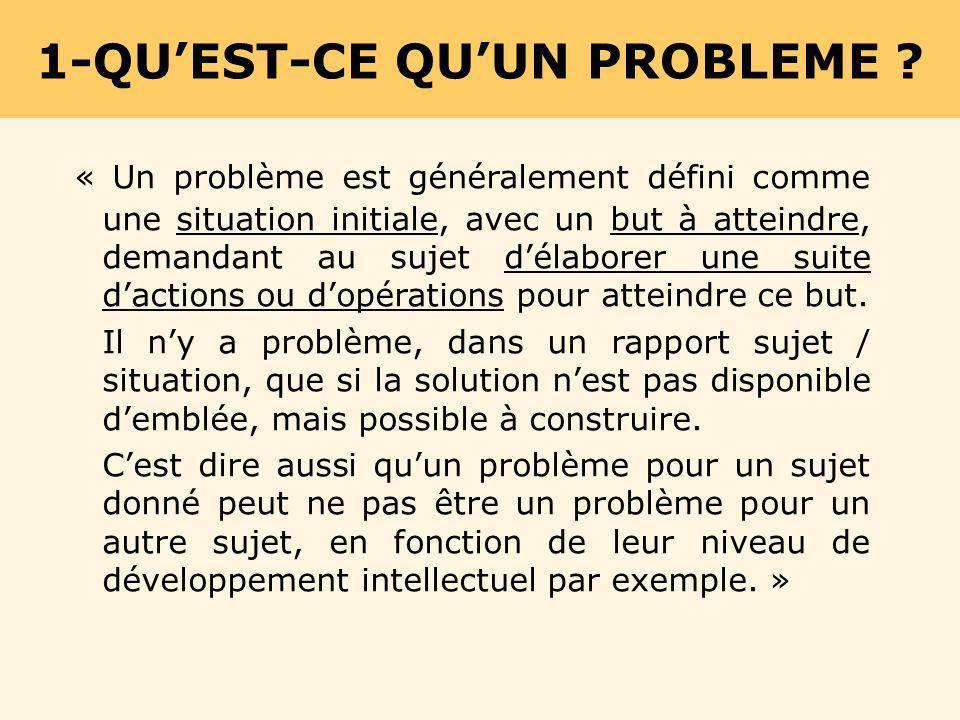 1-QU'EST-CE QU'UN PROBLEME