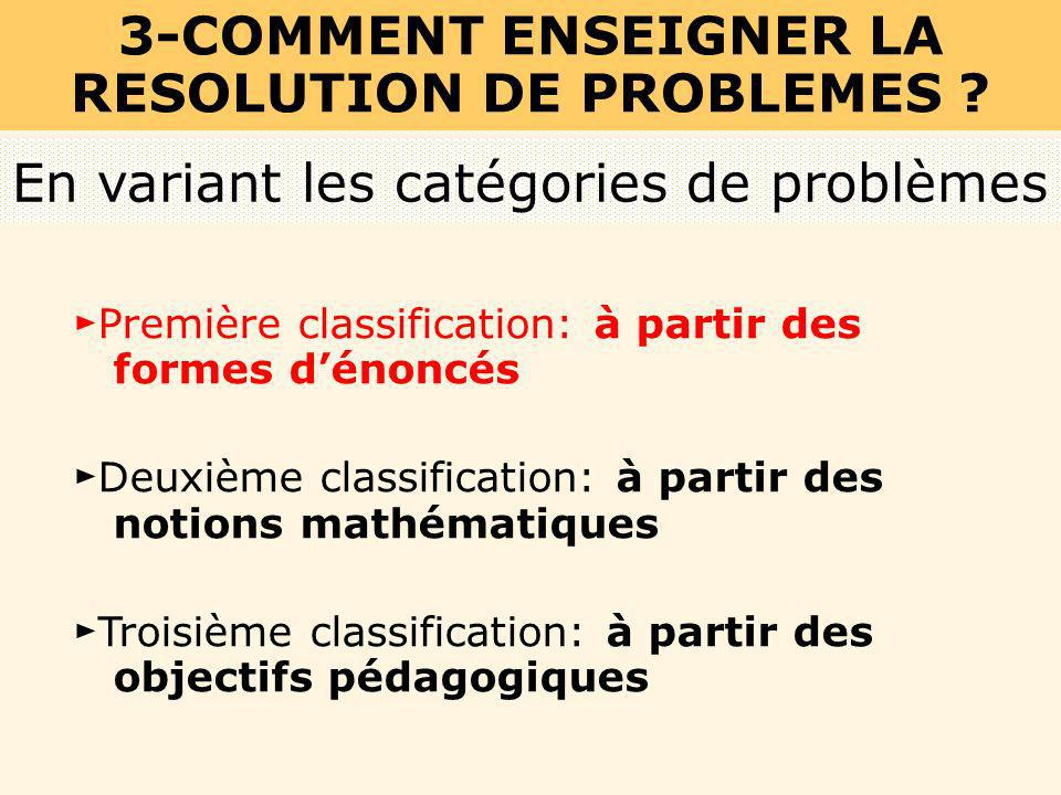 3-COMMENT ENSEIGNER LA RESOLUTION DE PROBLEMES