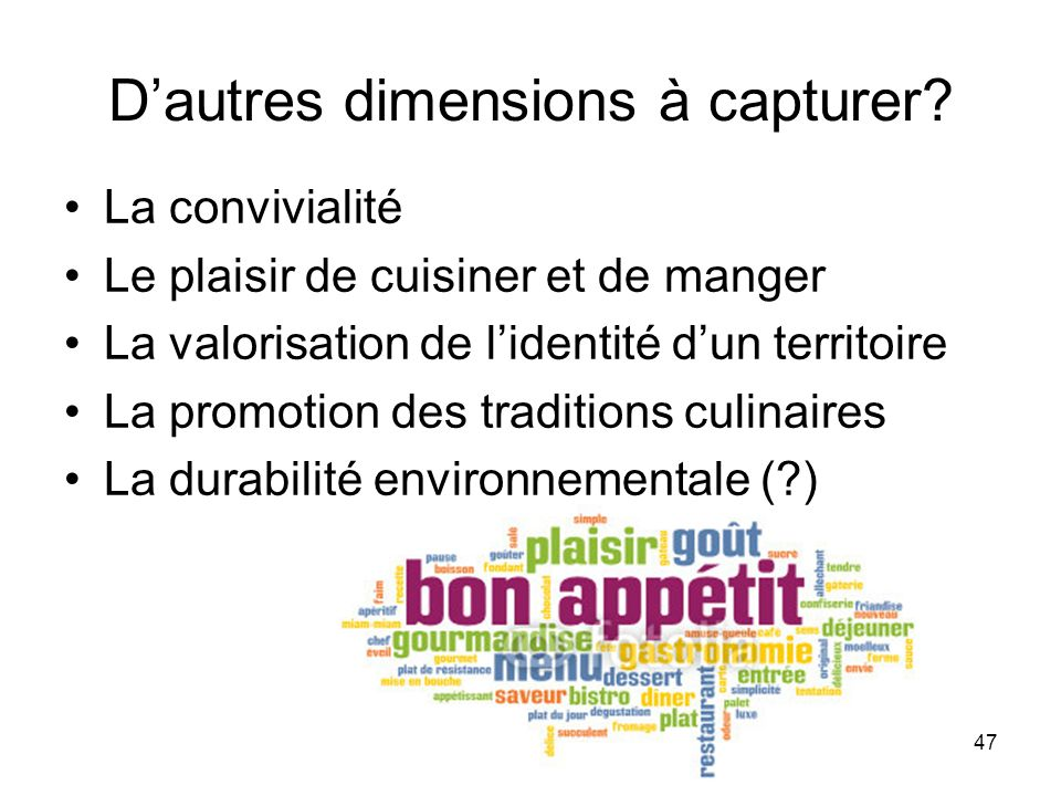 D'autres dimensions à capturer