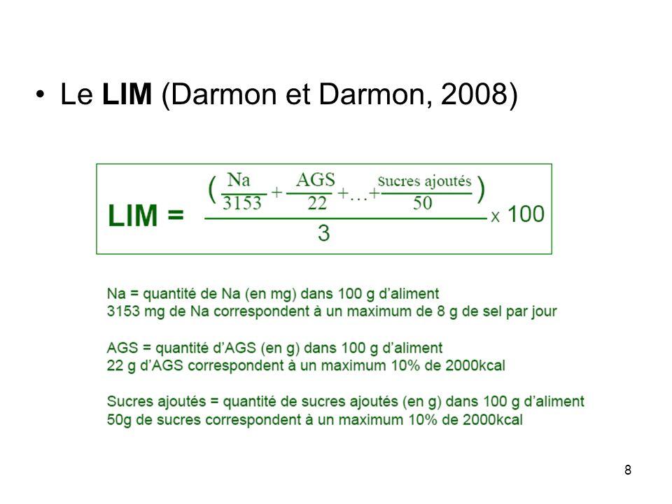 Le LIM (Darmon et Darmon, 2008)