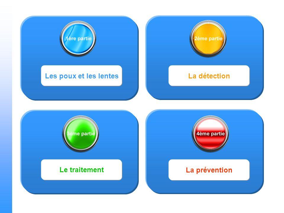 Les poux et les lentes La détection Le traitement La prévention