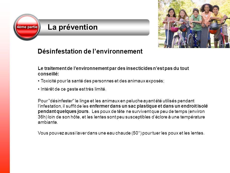 La prévention Désinfestation de l'environnement