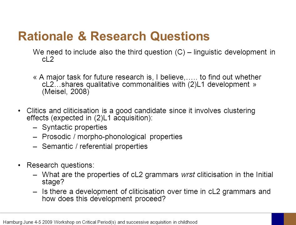 Rationale & Research Questions