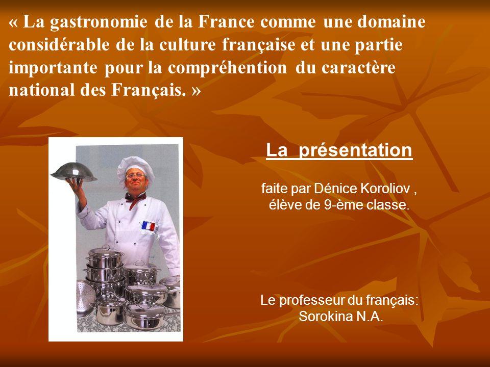 importante pour la compréhention du caractère national des Français. »